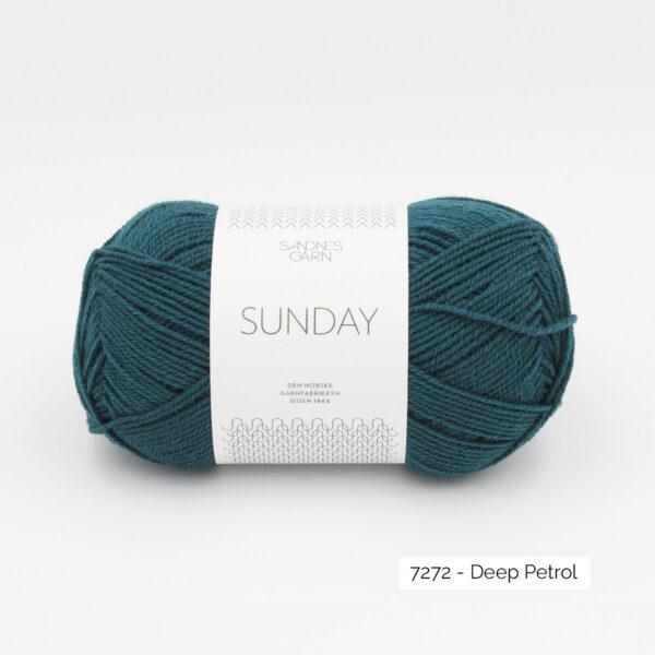 Pelote de Sunday by Petite Knit pour Sandnes Garn coloris Deep Petrol