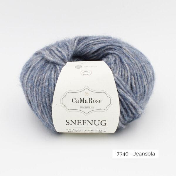Une pelote de Snefnug de CaMaRose, coloris Jeansbla (bleu jean)