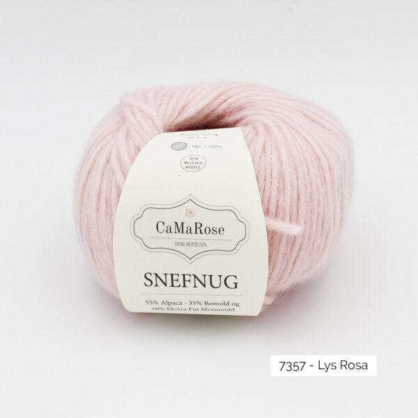 Une pelote de Snefnug de CaMaRose, coloris Lys Rosa (rose pâle)