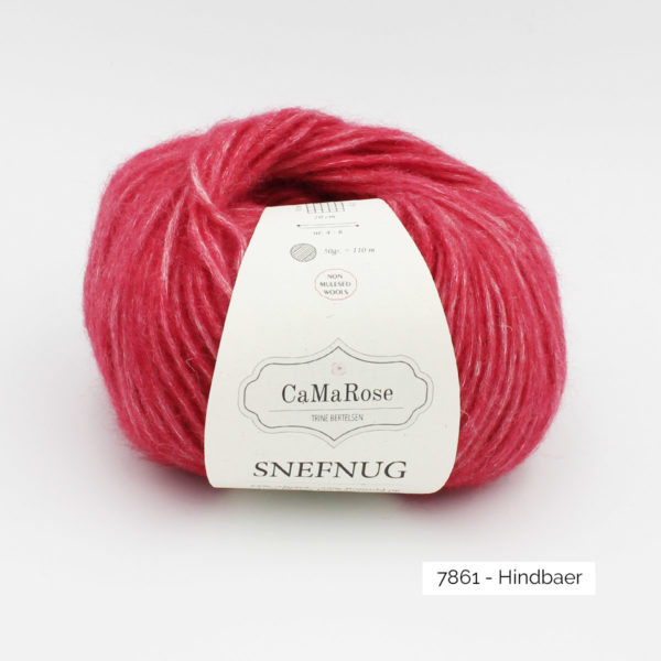 Une pelote de Snefnug de CaMaRose, coloris Hindbaer (framboise)