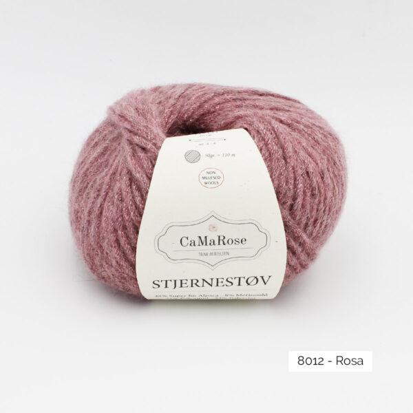 Une pelote de Stjernestov de CaMaRose coloris Rosa (vieux rose soutenu avec paillettes rose)