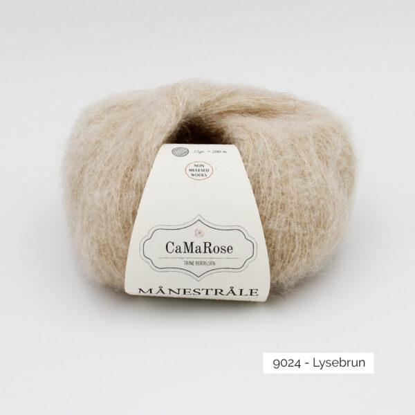 Une pelote de Manestrale de CaMaRose coloris Lysebrun (marron très clair)