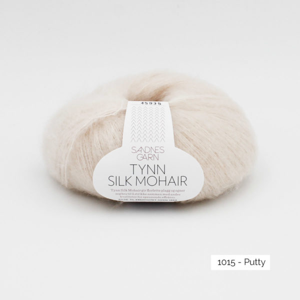 Pelote de Tynn Silk Mohair de Sandnes Garn coloris Putty