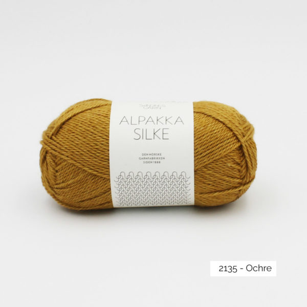 Sandnes Garn Alpakka Silke ball in the colorway Ochre