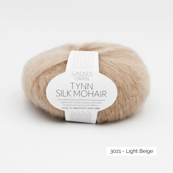Pelote de Tynn Silk Mohair de Sandnes Garn coloris Light Beige