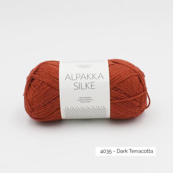 Pelote d'Alpakka Silke de Sandnes Garn coloris Dark Terracotta
