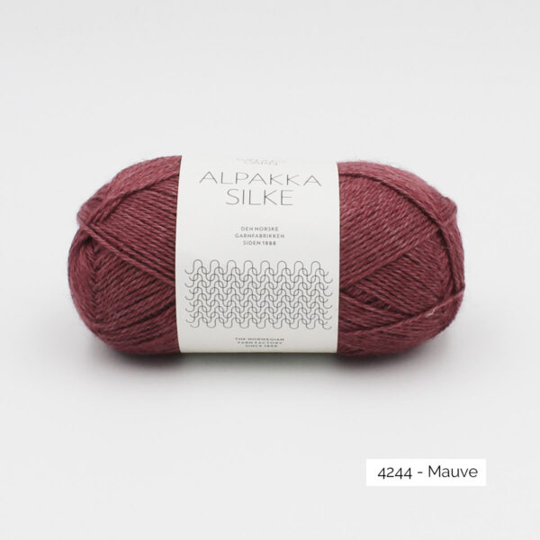 Sandnes Garn Alpakka Silke ball in the colorway Mauve