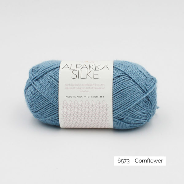 Sandnes Garn Alpakka Silke ball in the colorway Cornflower
