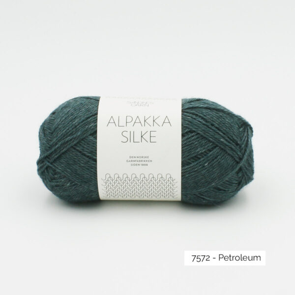 Sandnes Garn Alpakka Silke ball in the colorway Petroleum