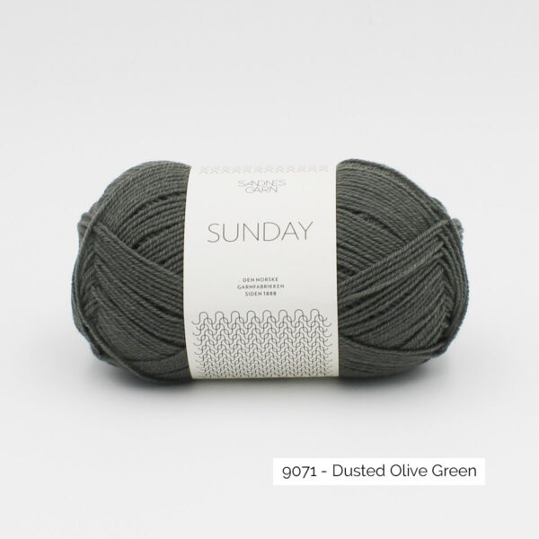 Pelote de Sunday by Petite Knit pour Sandnes Garn coloris Dusted Olive Green