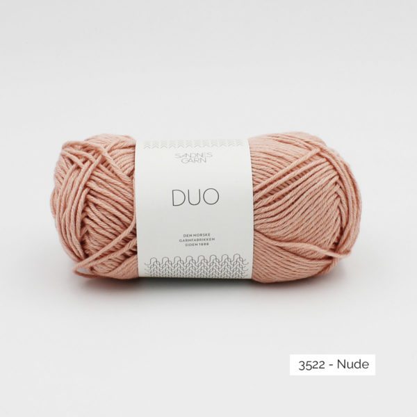 A ball of Sandnes Garn Duo in the Nude colorway