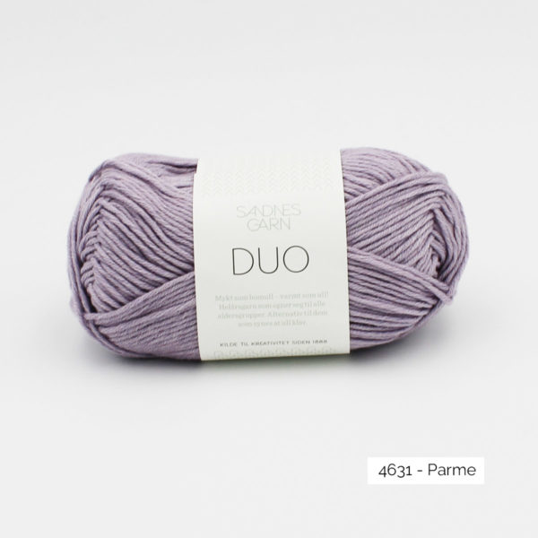 A ball of Sandnes Garn Duo in the Parma colorway