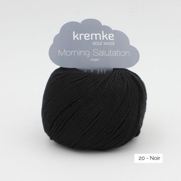 Une pelote de Morning Salutation de Kremke Soul Wool coloris Noir