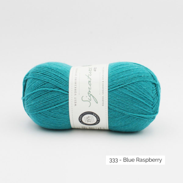 Pelote de Signature de West Yorkshire Spinners coloris Blue Rapsberry (bleu turquoise soutenu)