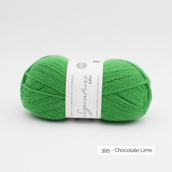 Pelote de Signature de West Yorkshire Spinners coloris Chocolate Lime (vert prairie)