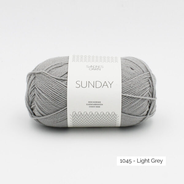 Pelote de Sunday by Petite Knit pour Sandnes Garn coloris Light Grey