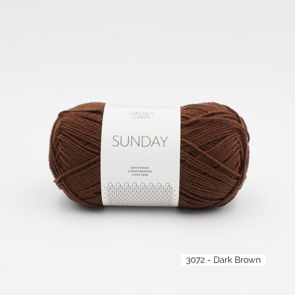 Pelote de Sunday by Petite Knit pour Sandnes Garn coloris Dark Brown
