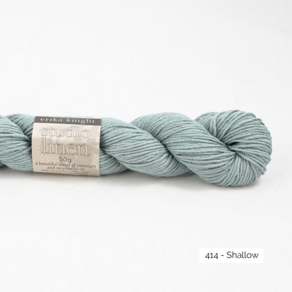 One skein of Studio Linen by Erika Knight in the Shallow colorway