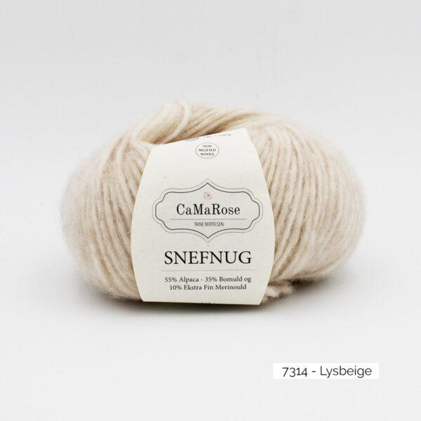 Une pelote de Snefnug de CaMaRose, coloris Lysbeige (beige clair)