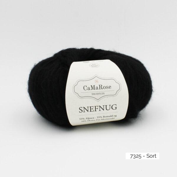 Une pelote de Snefnug de CaMaRose, coloris Sort (noir)