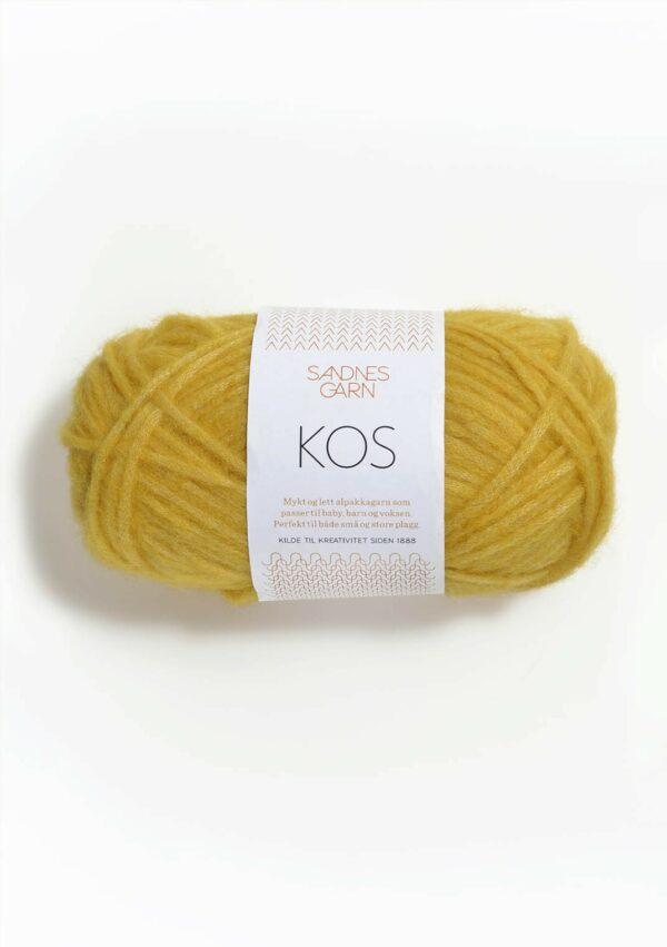 Une pelote de Kos de Sandnes Garn coloris Yellow (jaune poussin)