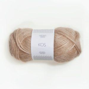 Une pelote de Kos de Sandnes Garn coloris Beige