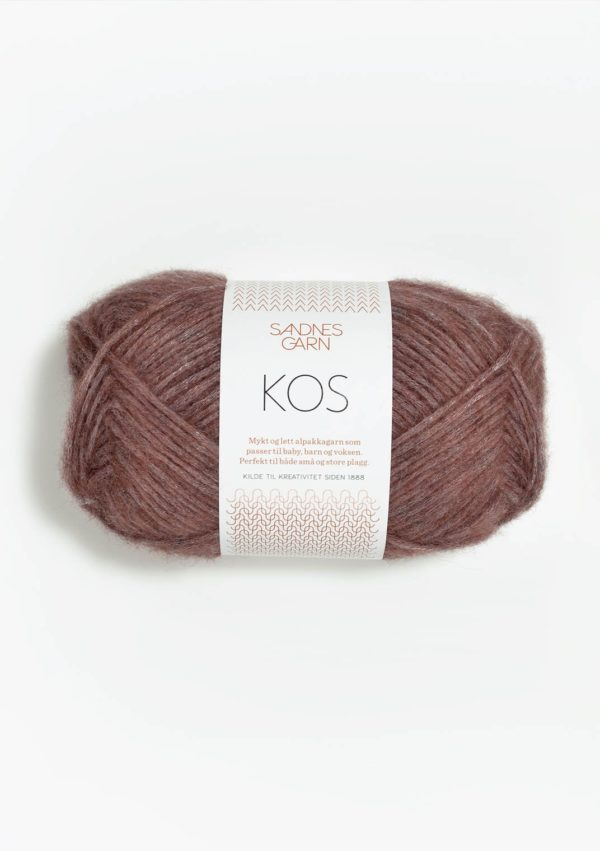 Une pelote de Kos de Sandnes Garn coloris Heather (prune)