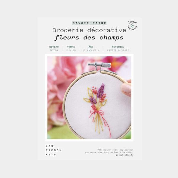 """Présentation de la boîte d'un kit de broderie décorative """"Fleur des Champs"""" de Les French'kits"""