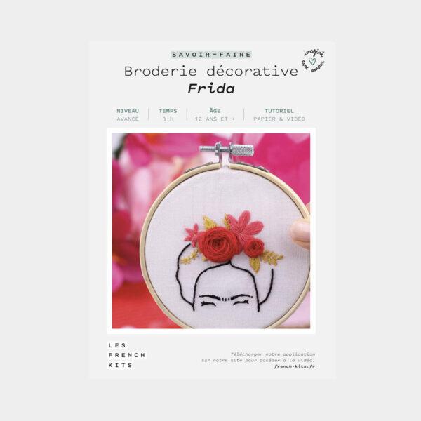 """Présentation de la boîte d'un kit de broderie décorative """"Frida"""" de Les French'kits"""