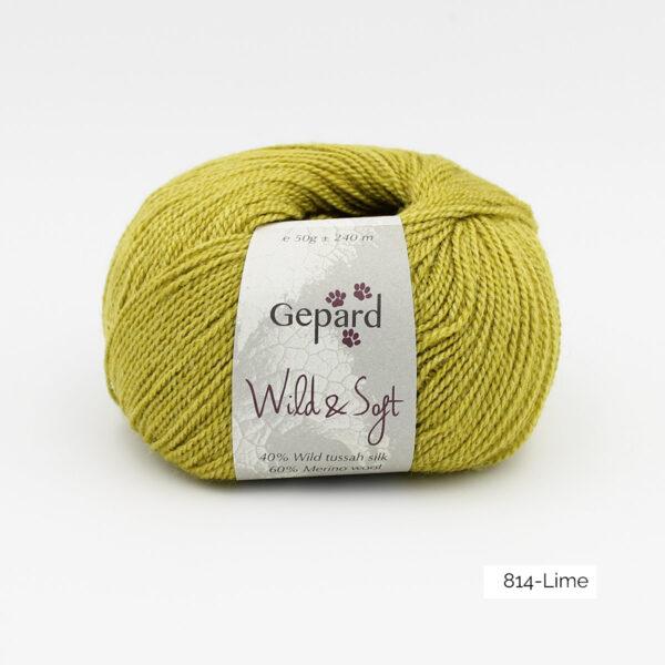 Une pelote de Wild & Soft de Gepard Garn, coloris Lime (tilleul)