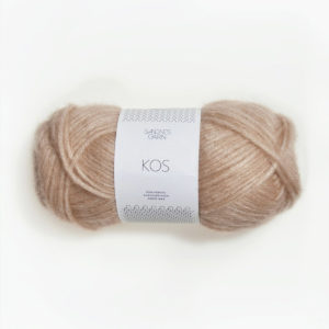 A ball of Sandnes Garn's Kos in the Beige colorway