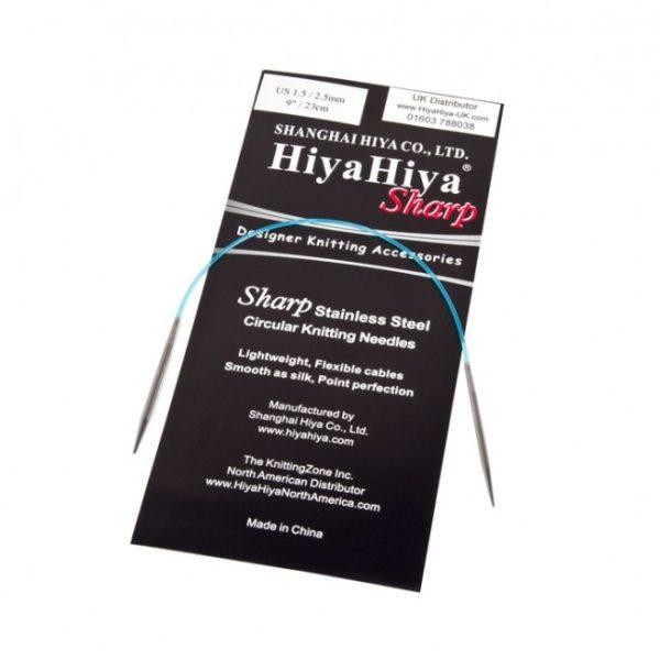 Présentation d'une mini-aiguille circulaires de 23 cm de la marque Hyia Hyia