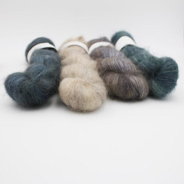 4 skeins Leona by Emilia & Philomène in assorted colorways