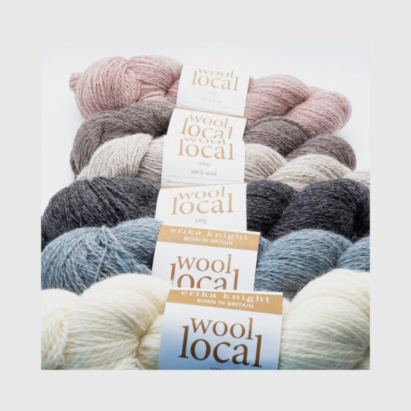 Range of 6 of Erika Knight's Wool Local, in assorted colours