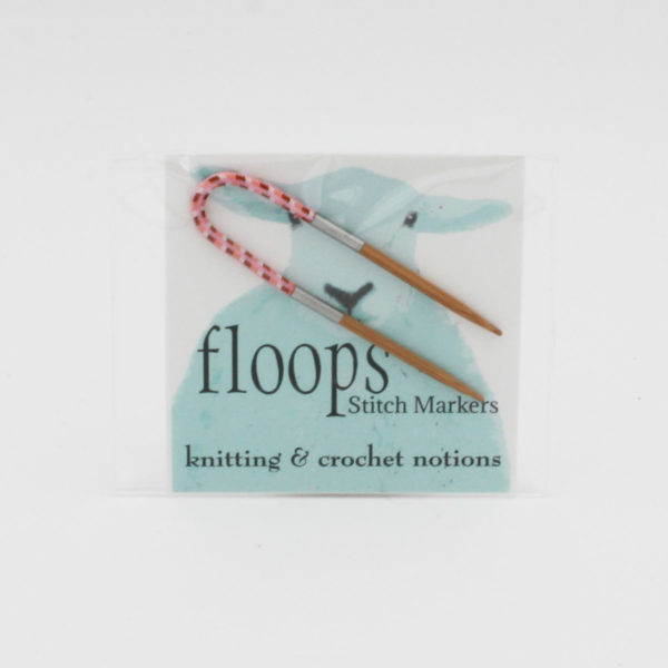Display of a Flox by Floop Stitch Markers