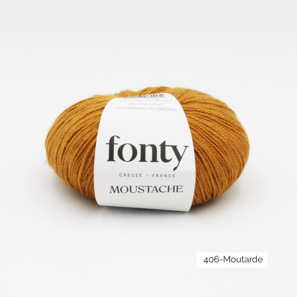 Une pelote de Moustache de Fonty coloris Moutarde