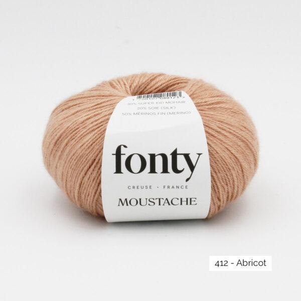 Une pelote de Moustache de Fonty coloris Abricot