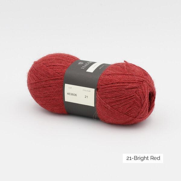 Une pelote d'Alpaca1 d'Isager coloris Bright Red (rouge franc)