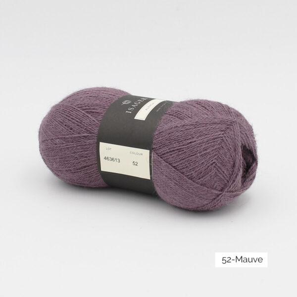 Une pelote d'Alpaca1 d'Isager coloris Mauve