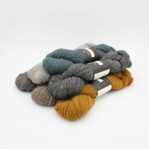 6 skeins of Isager's Alpaca 2 in assorted colours