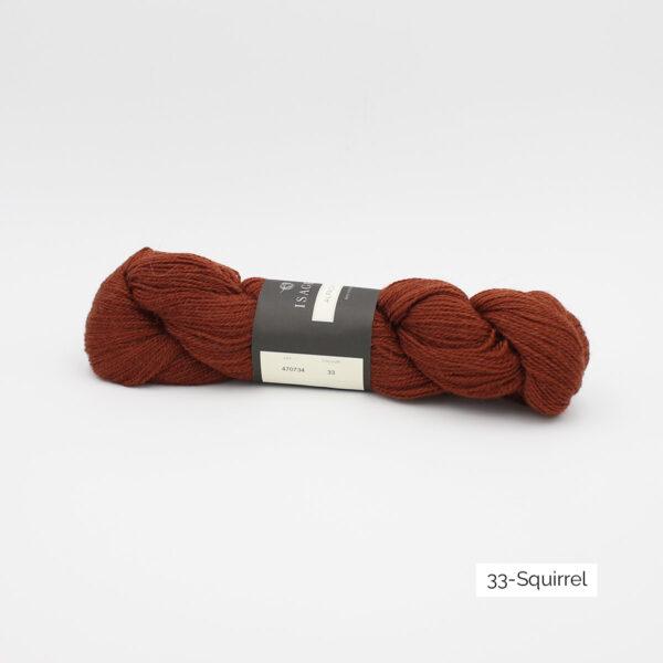 Un écheveau d'Alpaca2 d'Isager coloris Squirrel (brun roux)
