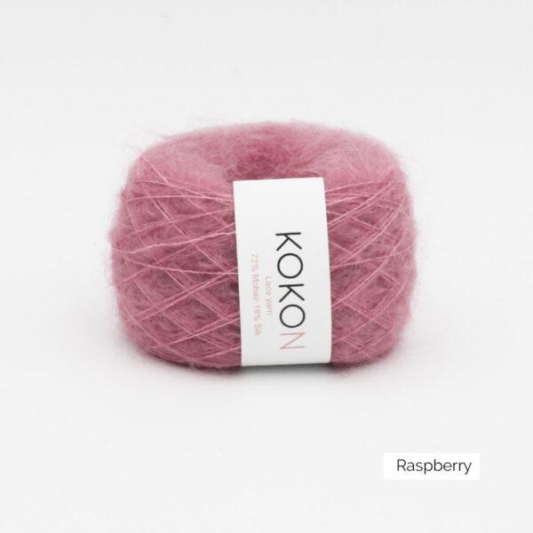 Une pelote de Silk Mohair de Kokon coloris Rapsberry (framboise)