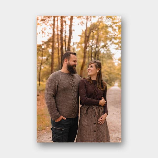 """Photo des modèles """"Duo Couple"""" du livre Tricot Duos de Lainamourée"""