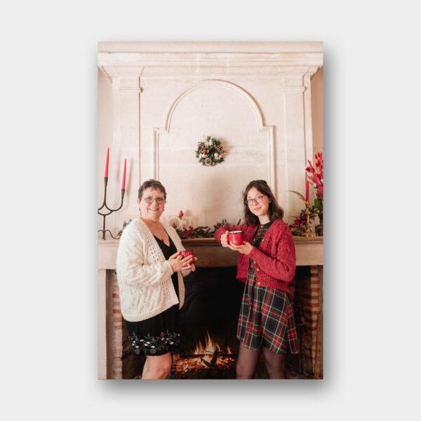 """Photo des modèles """"Maman Ado"""" du livre Tricot Duos de Lainamourée"""