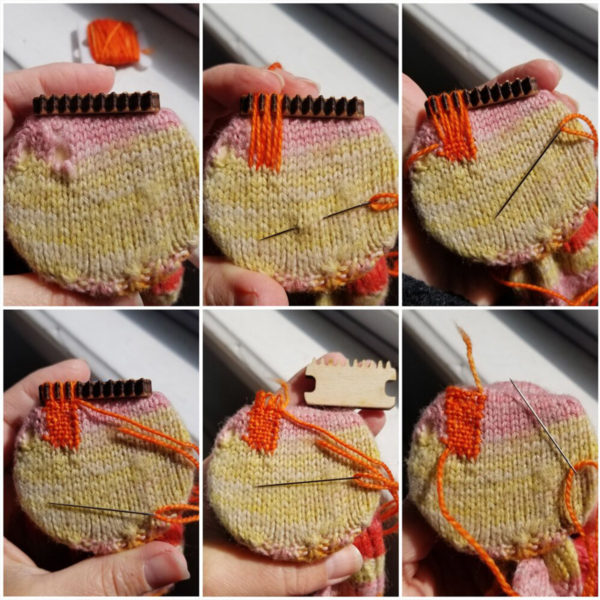 How to use the darning loom designed by Katrinkles