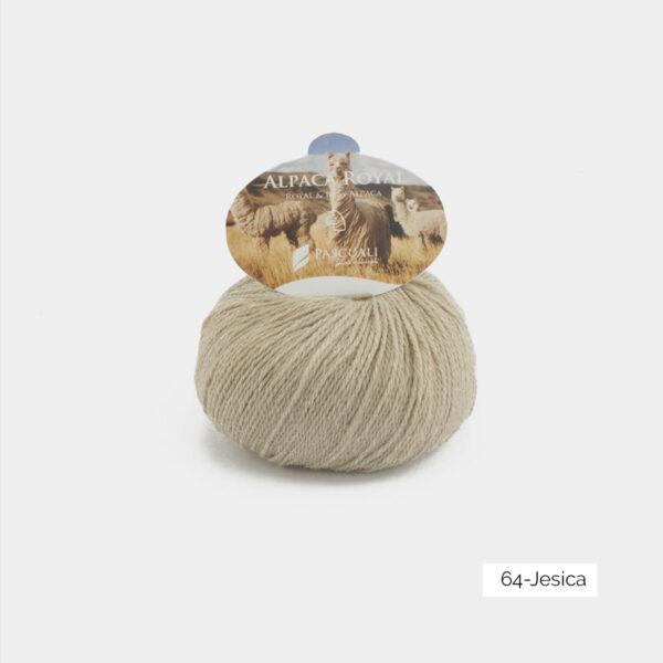 Une pelote d'Alpaca Royal de Pascuali coloris Jesica (beige clair chiné)