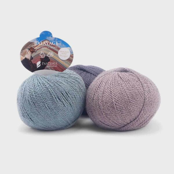 Trois pelotes de Balayage de Pascuali dans des coloris assortis