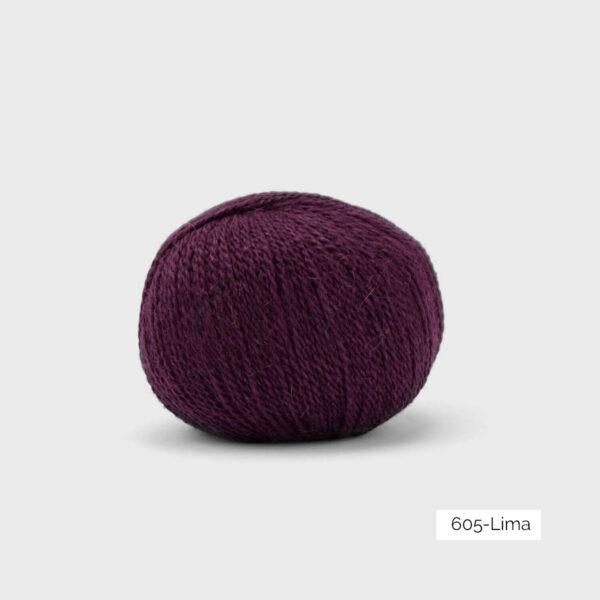 Une pelote de Balayage de Pascuali dans le coloris Lima (prune)