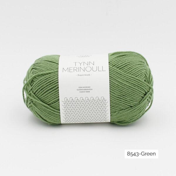 Une pelote de Tynn Merinoull de Sandnes Garn coloris Green (vert clair)