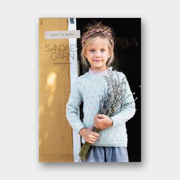 Couverture du catalogue de patrons de tricot pour enfants de Sandnes Garn n°1814